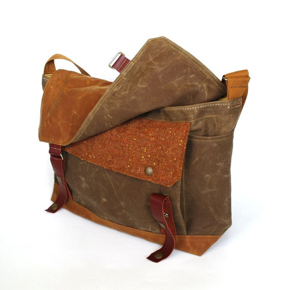 Ginger Waxed Canvas Messenger
