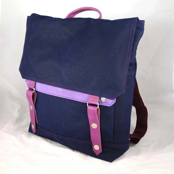 Limited Edition: Blueberry Waxed Canvas Backpack