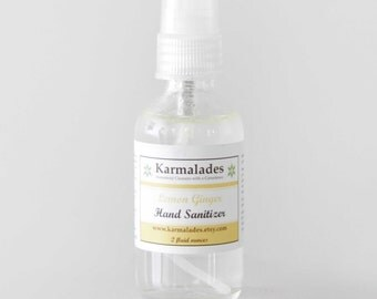 Lemon Ginger hand Sanitizer 2oz.
