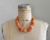 vintage NEUTRA BLOCK wood necklace