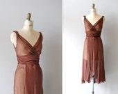 1930s dress / chiffon dress / Silken Truffle dress