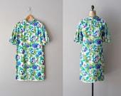 60s silk dress / 1960s dress / floral print / Painted Poppies dress