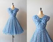 50s dress / 1950s dress / tulle dress / Bright Ice dress