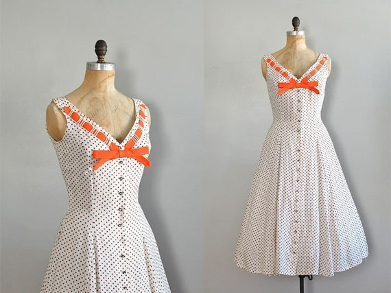 vintage 1950s derby day dress