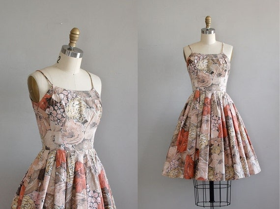 vintage 1950s Villa Taranto dress