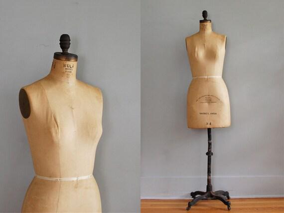 r e s e r v e d...vintage 1950s Wolf Dress Form