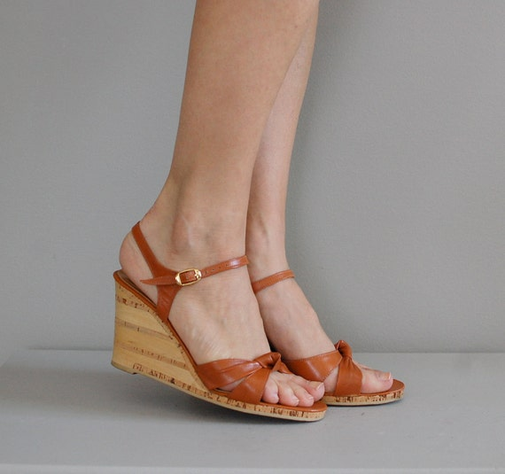1970s Wedges 70s Shoes Cork Wedges