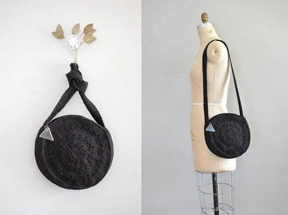 corde bag / 1940s handbag / Circle Corde bag