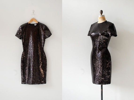 sequin dress / black sequins / Asphalt Shimmer dress