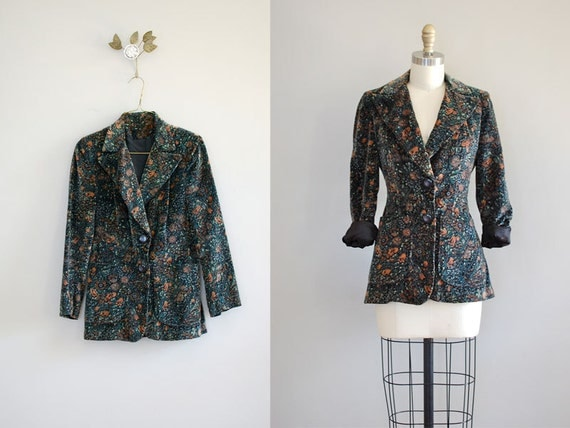 fitted jacket / floral blazer / Velvet Ophelia jacket