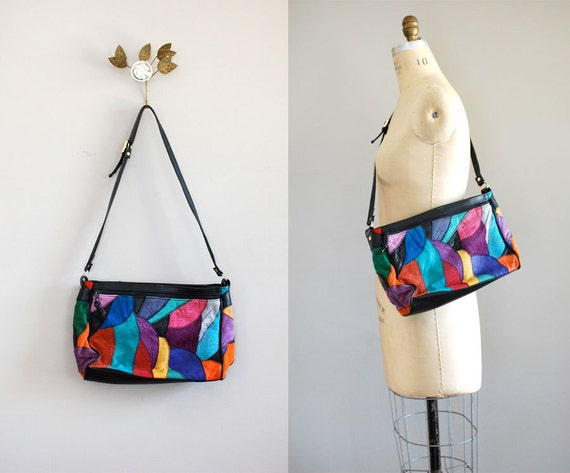 colorblock bag / patchwork bag / Colorblock Leather bag
