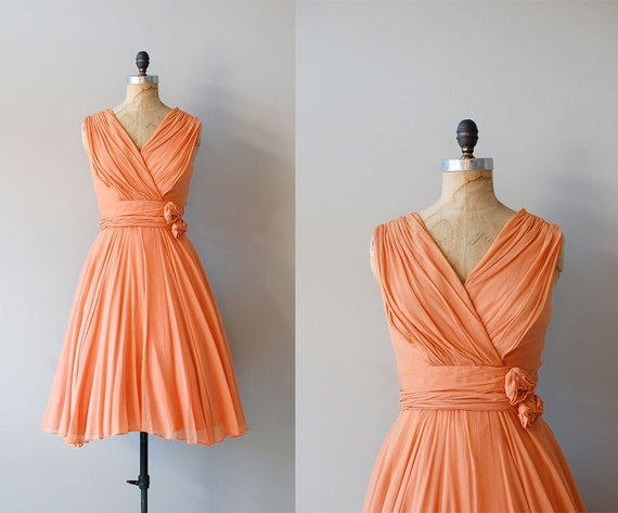 60s dress / silk chiffon dress 1960s / Pleased as Punch