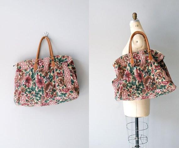 floral bag / fabric weekender / Floral Tapestry bag