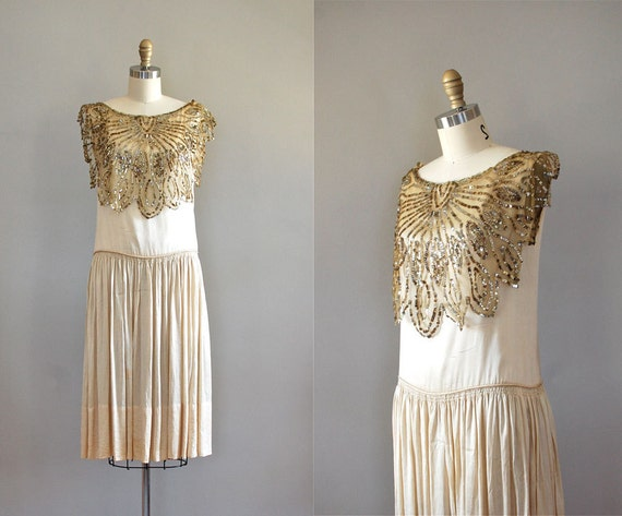 silk 20s dress / 1920s dress / Gypsy Moth dress