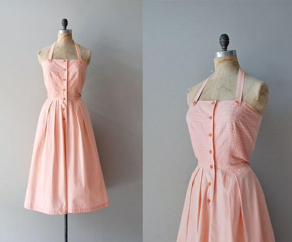 r e s e r v e d...1940s dress / halter dress 40s / Apricot Punch dress