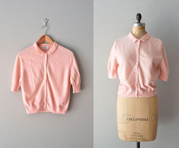 1950s cardigan / 50s sweater / pink / Dreamspun cardigan