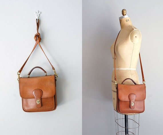 brown leather bag / leather station satchel / Whitbrea bag