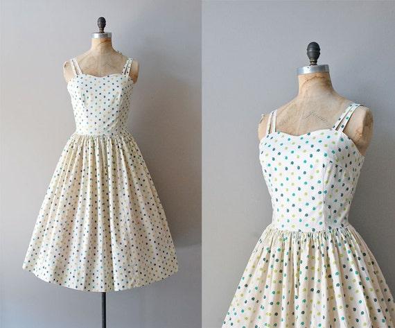 1950s dress / cotton 50s dress / Oxford Comma