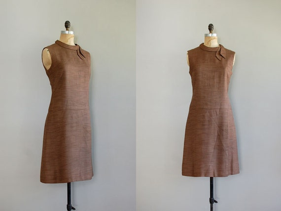 1960s dress / 60 shift dress / Wood Sorrel Dress