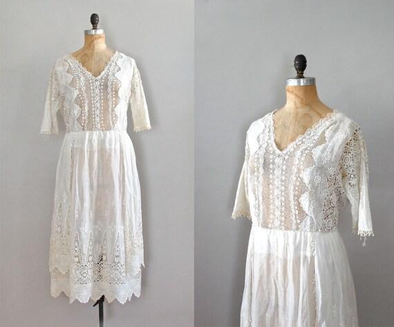 1920s dress / lace edwardian dress / 20s wedding dress / Verandah dress