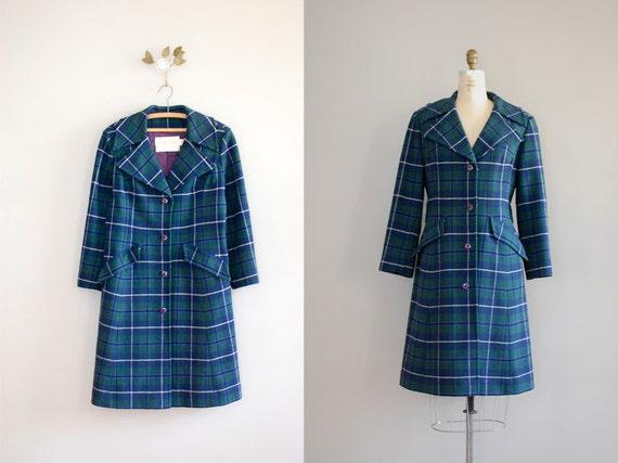 pendleton coat / plaid wool coat / Pendleton Plaid