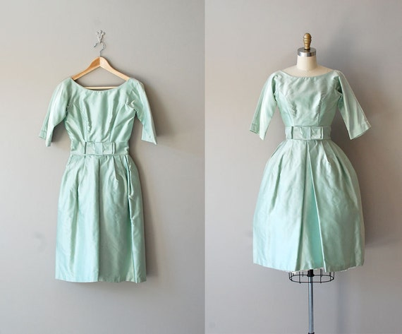 60s dress / 1960s party dress / Fresh Mint dress