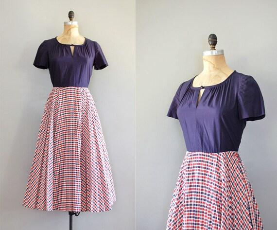 gingham dress / 70s does 50s / American Picnic dress