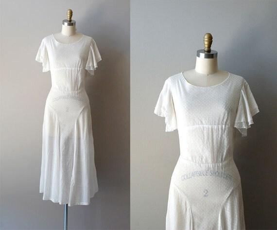 1930s dress / swiss dot 30s dress / Sugar Dot dress
