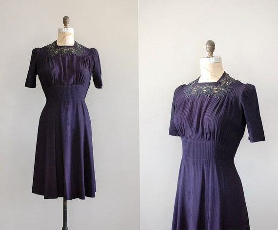 1940s dress / 40s dress / A Long Farewell dress