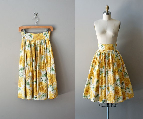 1950s skirt / 50s circle skirt / Sunny Mums skirt