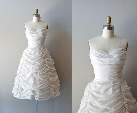 1950s wedding dress / 50s dress wedding / Cloudveil gown