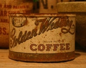 CANDLE Unique Hand-Poured Soy Wax Candle in Old Vintage Golden WEDDING Coffee Can GREAT 50th Anniversary Gift Antique Collectable Tin