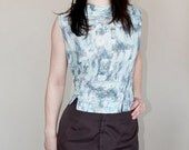 Pastel Abstract Fitted Crop Top - XL
