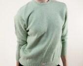 Minty Flecked Lambs Wool Sweater
