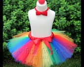 CiRCUS BRiGHTS 3pc CLOWN TUTU Set (tutu, nose, bowtie)- Perfect for Hallowen, Costume Parades, Birthdays (Sizes up to 3T)