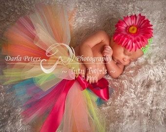 Newborn thru 24 months DESIGN Your OWN TUTU  (You Pick Colors) - Perfect for Birthdays, Baby Showers, Photography Props