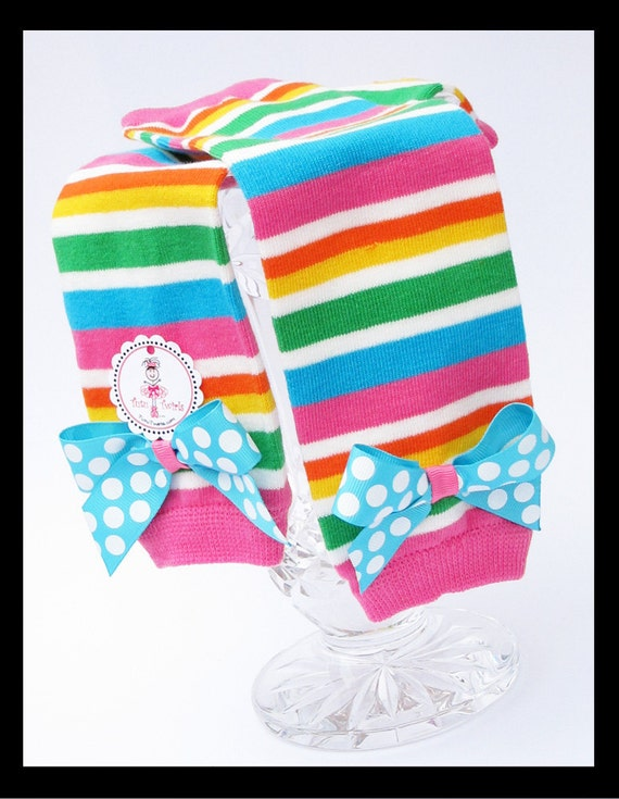 SWEET CANDY STRIPE Colorful Leg Warmers - Fits Infant, Toddler Girls