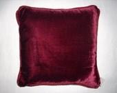 Pillow Two Sided Burgundy and White Velvet