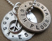 The Perfect Men's Necklace or Keyring - Hand stamped, Personalized, Sterling Silver - Gifts for Men - Father's Day - Hip Moms too