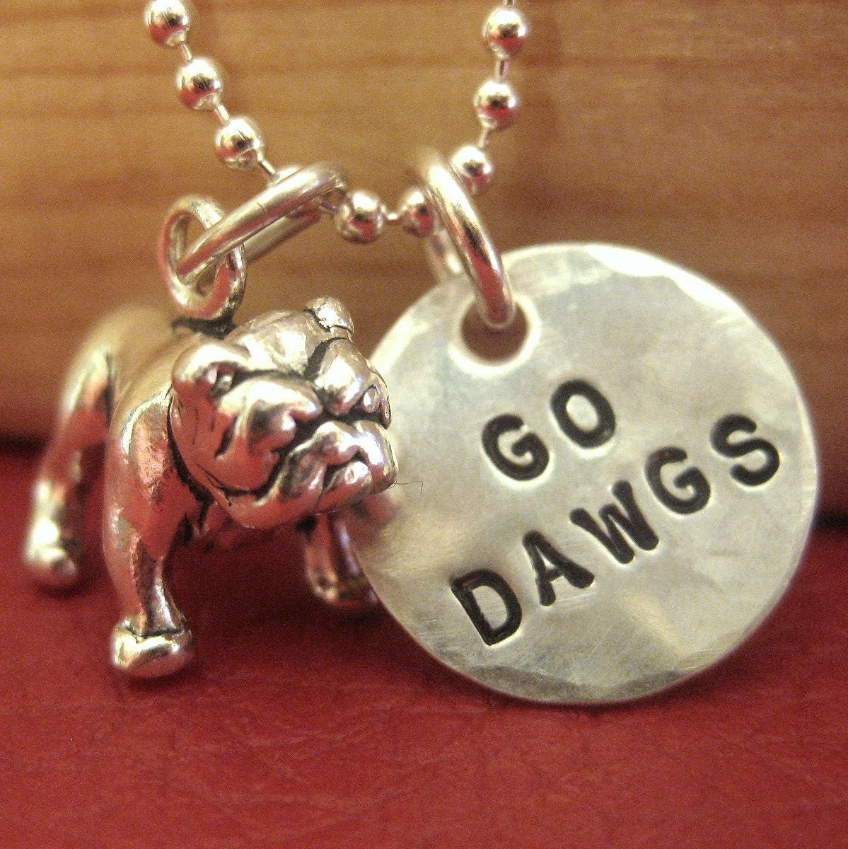 bulldog charm necklace or keyring sted 1 2