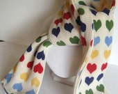 Hearts for Love Thermal Red Green Yellow Blue Scarf for Girls- Toddler, Child