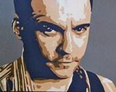 Dave Matthews Pop Art Painting 18x14in