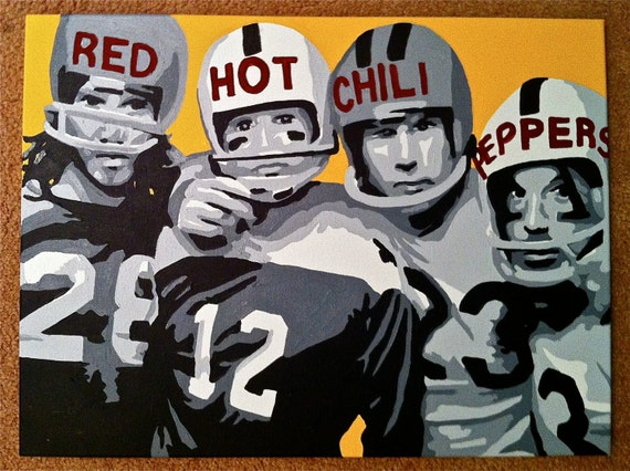"""18"""" x 24"""" Pop Art Painting of The Red Hot Chili Peppers"""