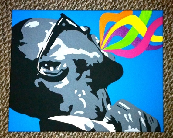 """RESERVED for Tana 16"""" x 20"""" Pop Art Painting of Kanye West"""