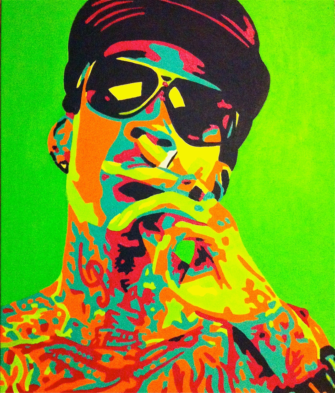 20 x 24 pop art painting wiz khalifa