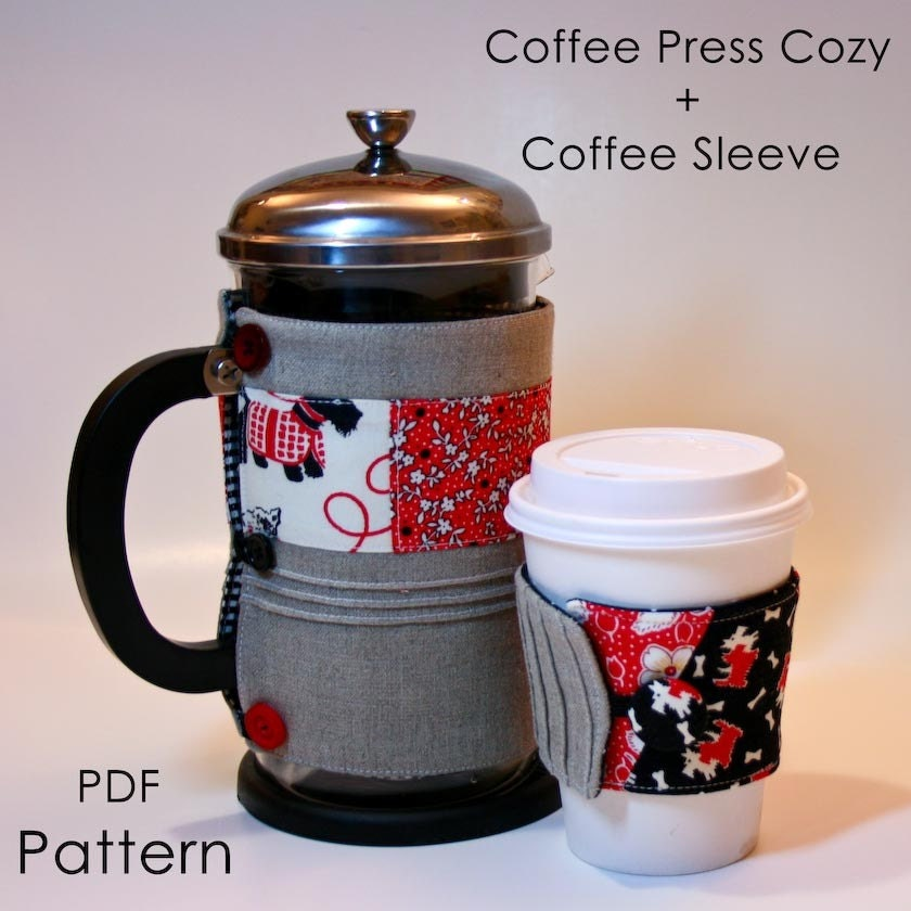 pdf coffee cozies pattern tutorial. Black Bedroom Furniture Sets. Home Design Ideas