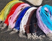 100 x  Organza Wax Necklace Ribbon Cord Strap Chain Assorted color M657