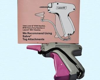 TAG Gun - Laser II -Fasteners - Pistol Grip - Dennison Compatible -ZipperStop Wholesale Distributor YKK® Zipper