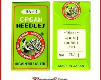 Sewing Machine Needles (1pkg)Size 75/11 BP , HA x 1/Singer ,Home Sewing Machines Made by Organ