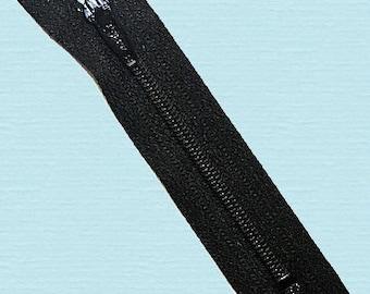 50 Black 4 Inch Zippers YKK #3 nylon Wholesale Zippers~ykk Color 580 Closed End~ZipperStop Wholesale Authorized Distributor YKK®